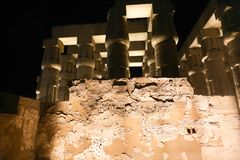 Luxor Temple - Night view. Night view of Luxor Temple with night lights, Egypt Stock Photography