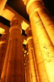 Luxor Temple - Egypt. Night view of Luxor Temple with night lights, Egypt Royalty Free Stock Image