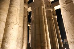 Luxor Temple at Night. Night view of Luxor Temple with night lights, Egypt Stock Photography