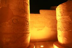 Night view of Luxor Temple Stock Photo