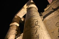 Night view of Luxor Temple Stock Image