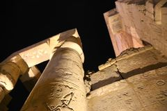 Night view of Luxor Temple Royalty Free Stock Photos