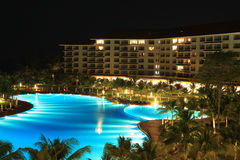 Night view of a luxury resort Royalty Free Stock Image