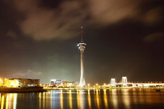 Night view of Macau. Macau Tower Convention & Entertainment Centre Royalty Free Stock Photos