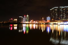 Night view of Macau, China Stock Photo