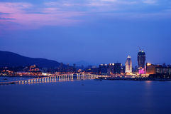 Night view of Macau city Royalty Free Stock Photography