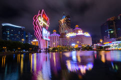 Night View of Macau Stock Images