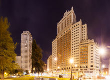Night view of Madrid Royalty Free Stock Photo