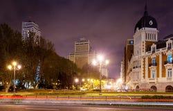 Night view of Madrid Stock Photos