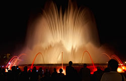 Night view of Magic Fountain Stock Photo