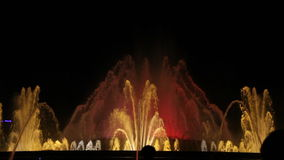 Night view of Magic Fountain stock video footage