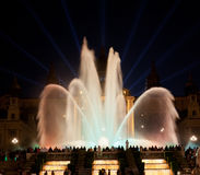 Night view of Magic Fountain Stock Photos