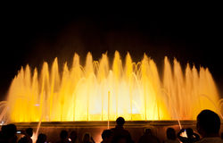 Night view of Magic Fountain Stock Image