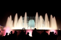 Night view of Magic Fountain Royalty Free Stock Photography