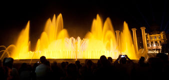 Night view of Magic Fountain Stock Photography