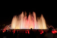 Night view of Magic Fountain Royalty Free Stock Photo