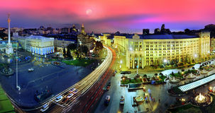 Night view of the Maidan Royalty Free Stock Photo