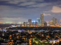 Night view of Makati, Philippines. Night view of Makati, the business district of Metro Manila, Philippines royalty free stock photo