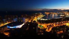 Night view of  Malaga Stock Photo