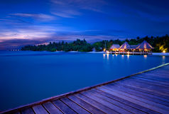 Night view Maldives Royalty Free Stock Image