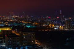 Night view of Manama, Bahrain, Middle East Royalty Free Stock Photos