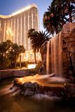 Night view of Mandalay Bay Hotel in Las Vegas Royalty Free Stock Photo