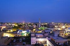 Night view of Mandawa town Royalty Free Stock Photography