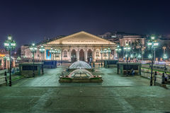 Night view of Manezhnaya Square  in Moscow, Russia Royalty Free Stock Photo