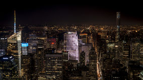 Night view on Manhattan. From Empire State Building Royalty Free Stock Photos