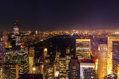 Night view of Manhattan, New York City Stock Image