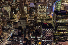 Night view of Manhattan, New York City Royalty Free Stock Image