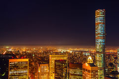 Night view of Manhattan, New York City Royalty Free Stock Photo