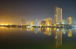 Night view of Manila Bay Royalty Free Stock Photo
