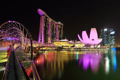 Night view of Marina Bay Sands Royalty Free Stock Image