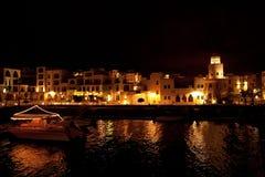 Night view of the marina Tala Bay Stock Photos