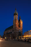 A night view of the Market Square in Krakow, Poland Royalty Free Stock Photos