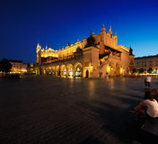 A night view of the Market Square in Krakow, Poland Royalty Free Stock Photography