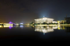 Night view at Masjid Putrajaya Royalty Free Stock Photography