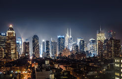 Night view of Midtown Manhattan Stock Photo
