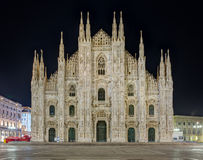 Night view of Milan Cathedral (Duomo di Milano), Italy Royalty Free Stock Photography