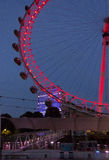 Night view of the Millenium wheel Stock Images