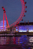 Night view of the Millenium wheel Royalty Free Stock Images