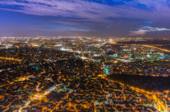 Night view of modern Istanbul Royalty Free Stock Image