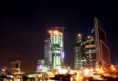 Night view of modern Moscow Royalty Free Stock Images