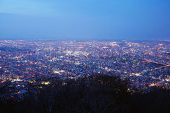 Night View from Moiwa Royalty Free Stock Image