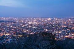 Night View from Moiwa Stock Photo