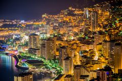 Night view of Monaco Royalty Free Stock Image