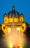 Night view of the Monumento a los Caidos Royalty Free Stock Photo
