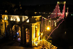 Night-view of Monuments - Daxi Bridge Royalty Free Stock Image
