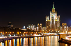 Night view of Moscow Stock Photography